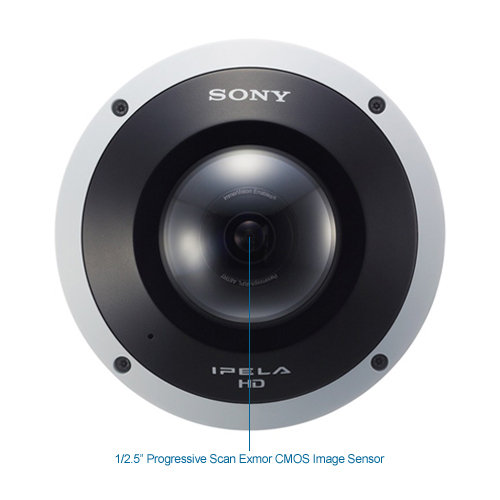 sony snc-hm662 5mp 360° minidome ip security camera