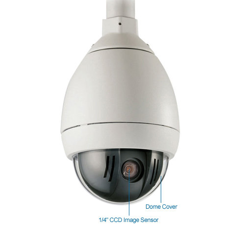 bosch vg5-624-ecs autodome 36x ntsc indoor/outdoor ptz pendant camera
