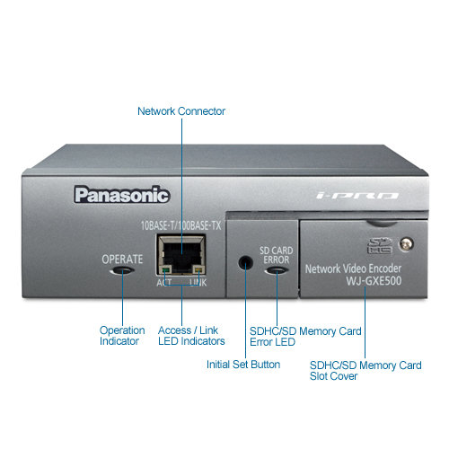 panasonic wj-gxe500 i-pro video server/encoder