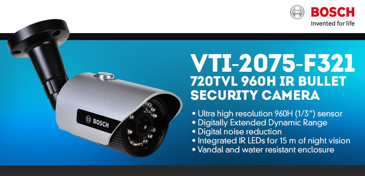 bosch vti-2075-f321 720tvl 960h ir bullet security camera