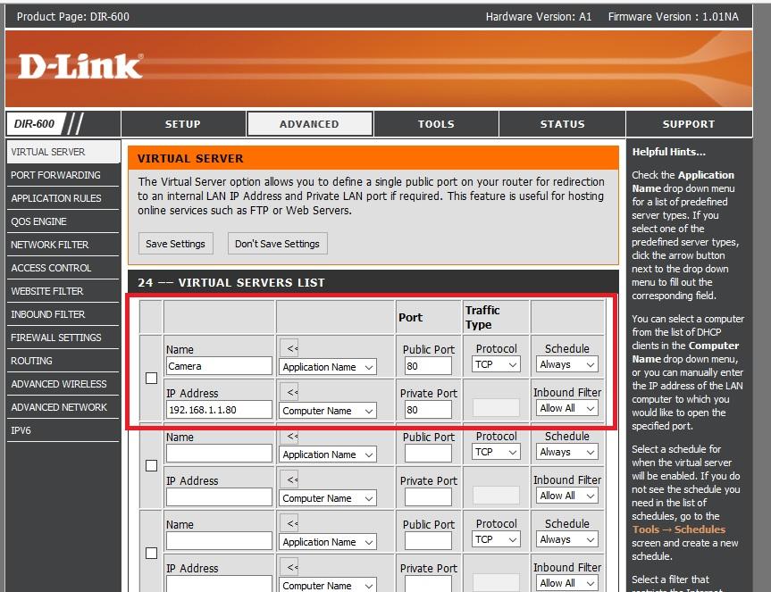 enable port forwarding dlink router