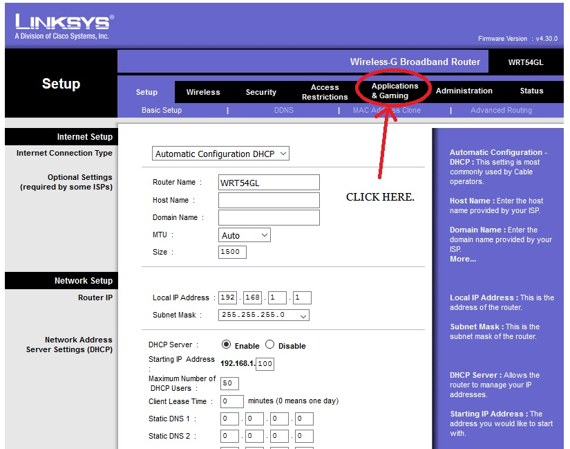 Linksys Router Ip >> Port Forwarding To A Security Camera Or Recorder From Linksys Router